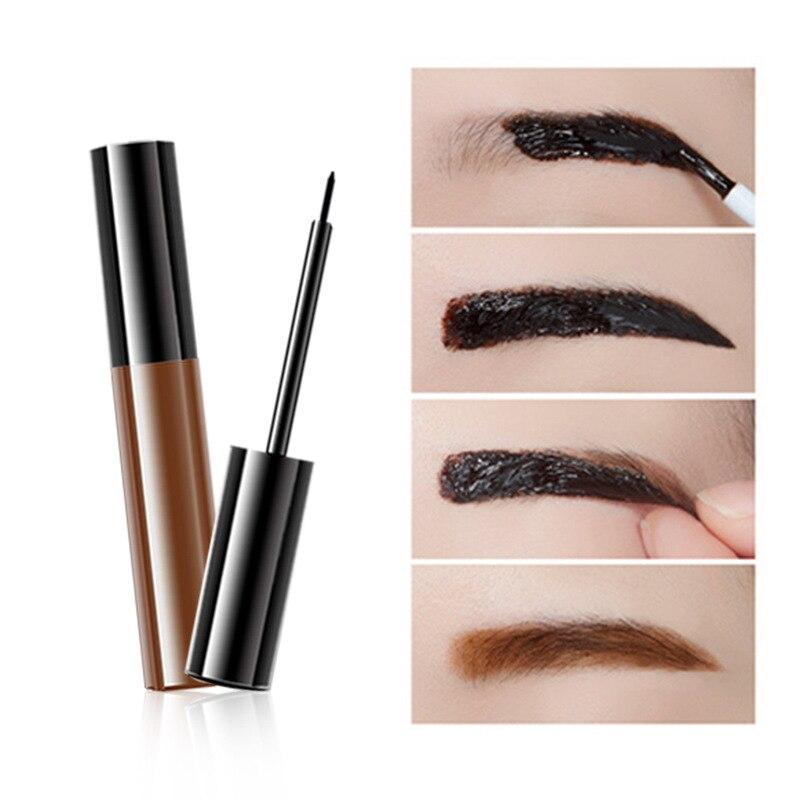 Custom Logo Eyebrow Tattoo Gel Black Brown Dyeing Brow Cream Tint Peel Off Waterproof Eye Brow Tattoo Dye Eyebrow Makeup