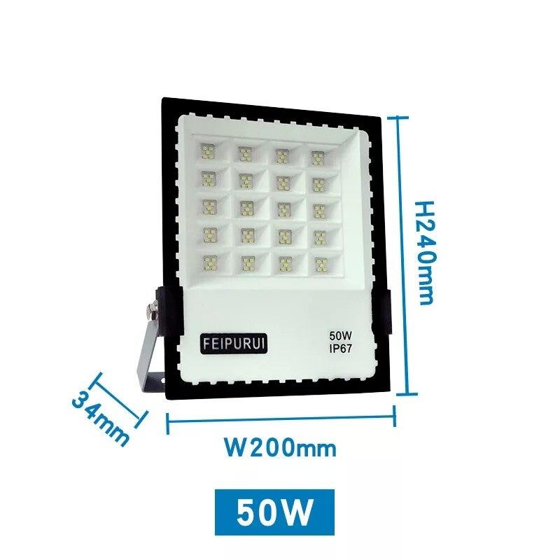 LED 50W 100W 150W 200W flood light AC 85-265V waterproof IP67 spotlight outdoor lighting  garden wall hanging street light