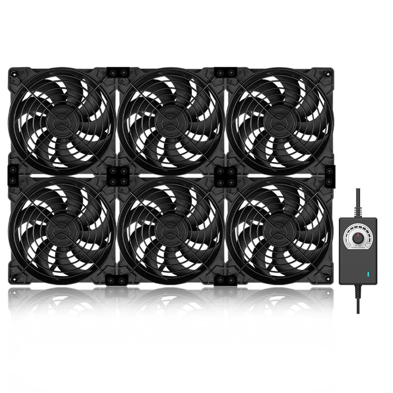 12cm High Speed Large Air Volume 100V 220V Btc Mining Machine Workstation Cabinet 120MM Violent Server Cooling System Fan Kit