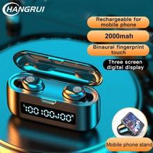 F9-38TWS 5,0 7D Stereo Kopfhörer Touch Drahtlose Bluetooth Ohrhörer Wasserdicht Kopfhörer CVC 8,0 Noise Cancelling Ohrhörer Mit Mic