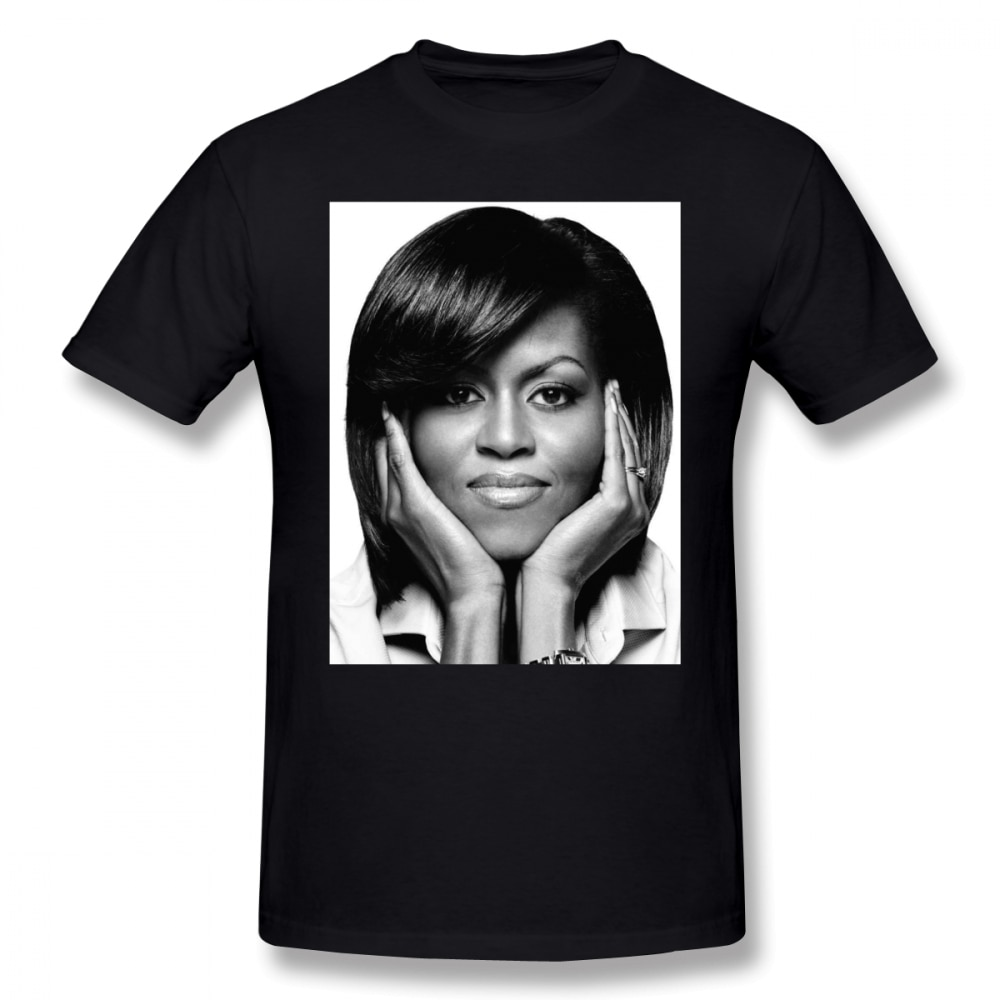 Obama t camisa michelle camisa xxx streetwear t camisa diversão de manga curta masculino 100 por cento algodão impressão tshirt
