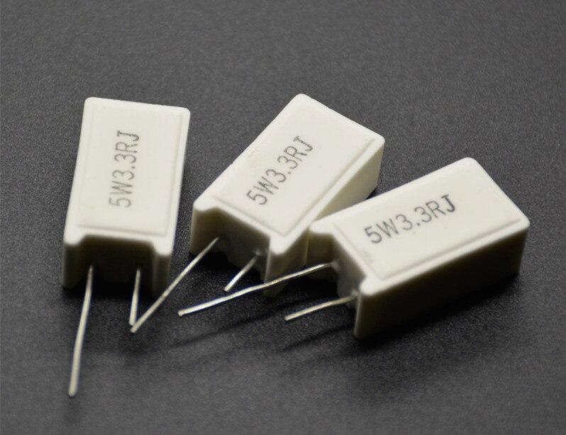 5 uds 5W m RX27-5 Vertical de cemento de potencia, resistencia de 1K 1,2 K 1,5 K 1,8 K 2K 3,3 K 3,9 K 5,1 K 6,8 K 8,2 K 10K Ohm de cerámica