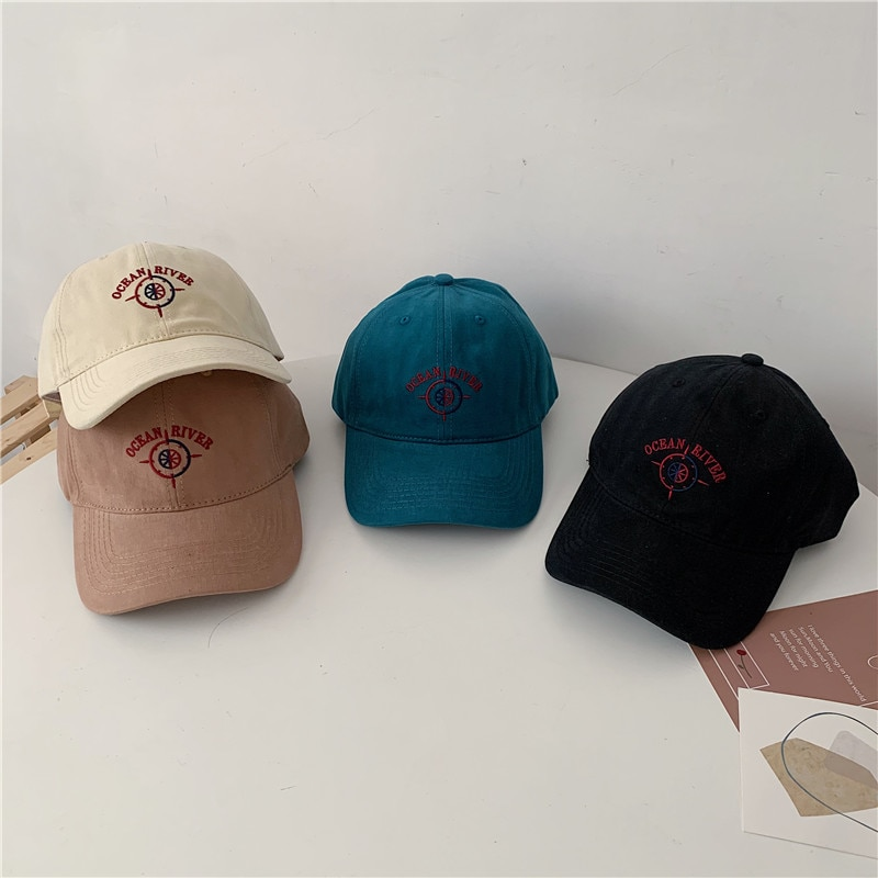 Compass Embroidered Hat Men and Women All-Matching Japanese Baseball Street Hip-Hop Face-Looking Sma