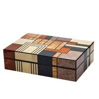 large capacity cedar wood cigar humidor glossy home cigar humidor box moisturizer box highlight lacquer hygrometer humidifier