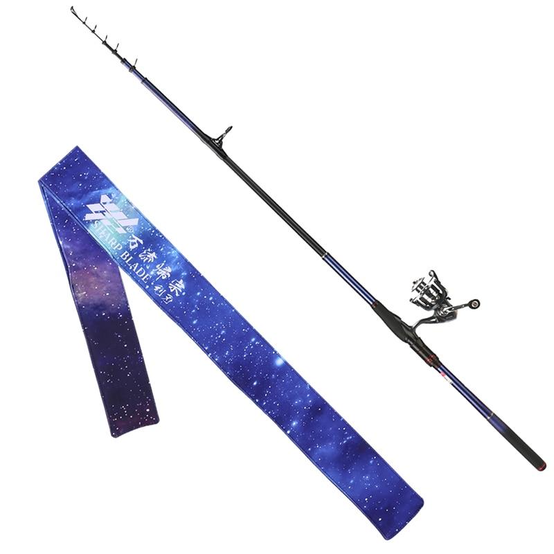 WLGZ 3.0M 3.6m 4.5M Boat Fishing Rod Large Rock Fishing Rod Carbon Fibre Telescopic Fishing Rod Seawater Spinning Rod enlarge