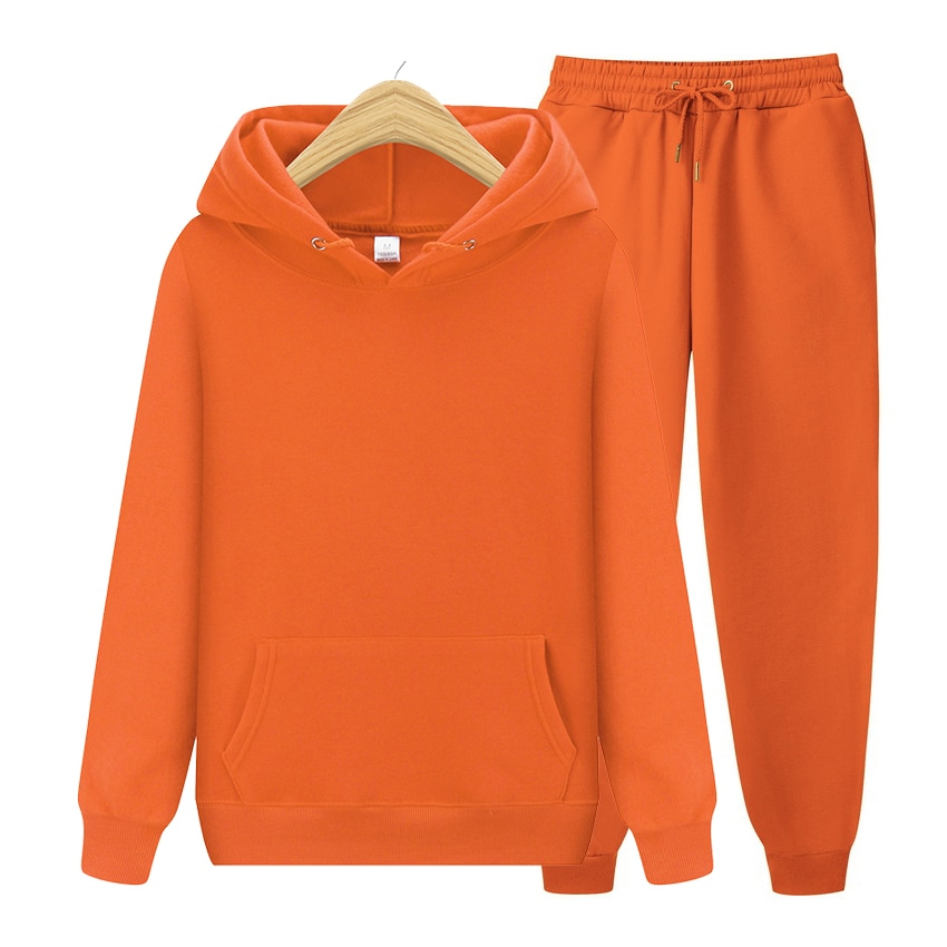 Мужские комплекты, толстовка с капюшоном и штаны, Осень-зима, толстовка с капюшоном, спортивные штаны, Модный облегающий мужской комплект, Т...