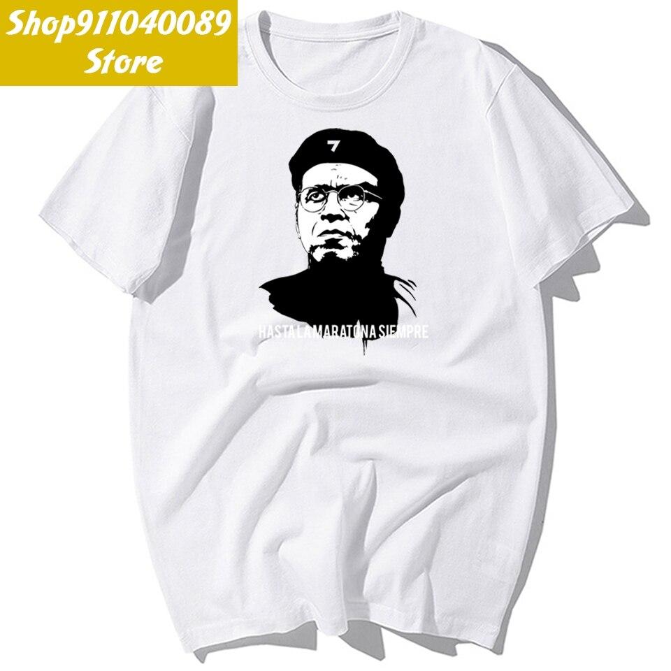 Hasta la maratona 2021 t camisa masculina 100% algodão de manga curta moda legal masculino tshirt casual hip hop streetwear