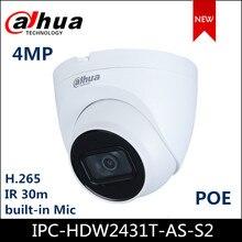 Dahua IP camera IPC-HDW2431T-AS-S2 4MP WDR IR Eyeball Network Camera support POE Upgraded version of IPC-HDW1431S
