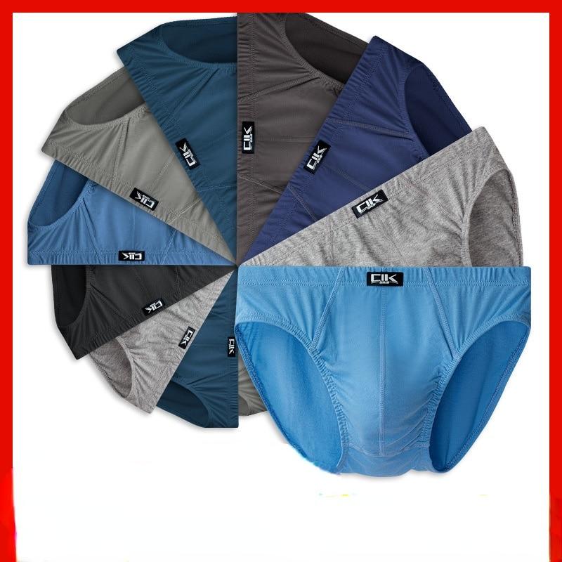 5pcs/lot   100% Cotton Mens Briefs  Plus Size Men Underwear Panties 4XL/5XL/6XL Men's Breathable Panties  Mid-waist  Very  cheap недорого
