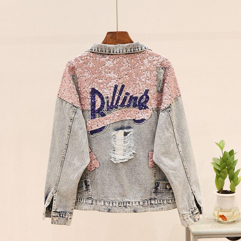 YAMDI-جاكيت جينز نسائي ، ملابس خارجية ، عتيق ، نمط بوهيمي ، مجموعة ربيع خريف وشتاء 2020