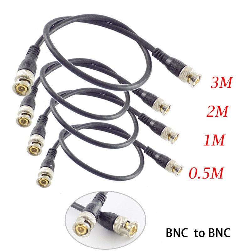 0,5 M/1M/2M/3M BNC macho a conector BNC adaptador macho Cable espiral para...