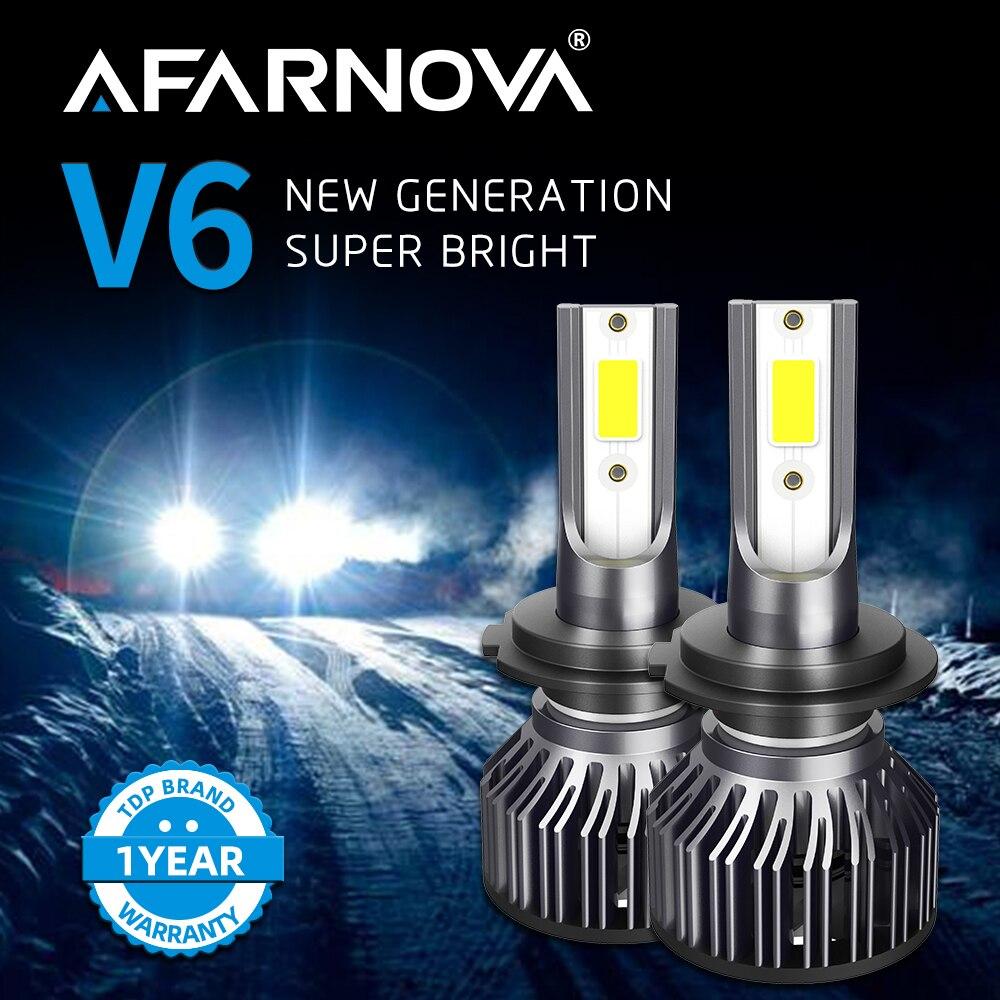 Afarnova H7 Led Headlight H4 Car Light Automotive LED Headlamps 9005 9006 12v High Brightness Bulbs