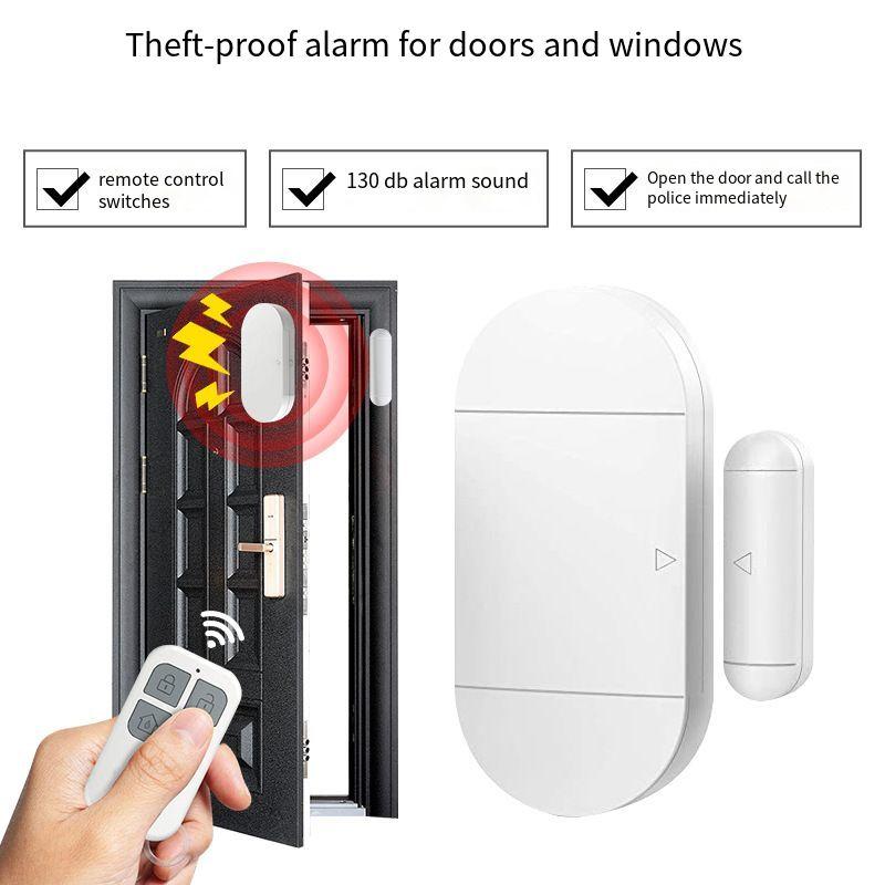 Магнитная сигнализация для дверей, многофункциональная беспроводная сигнализация для дверей и окон, функция дистанционного управления, бы...
