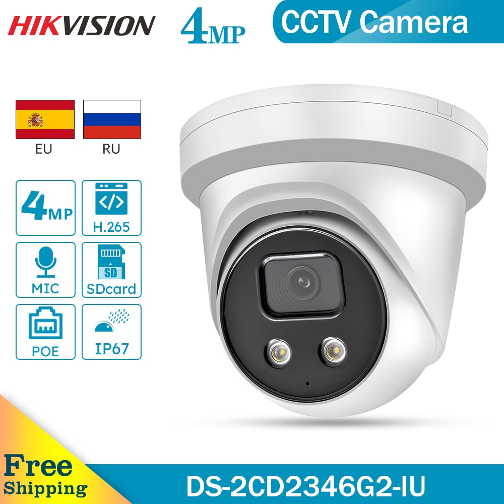 hikvision ds 2cd2346g2 iu oem 4mp wdr h265 built in mic ir30 poe ip67 fixo torre camera ip