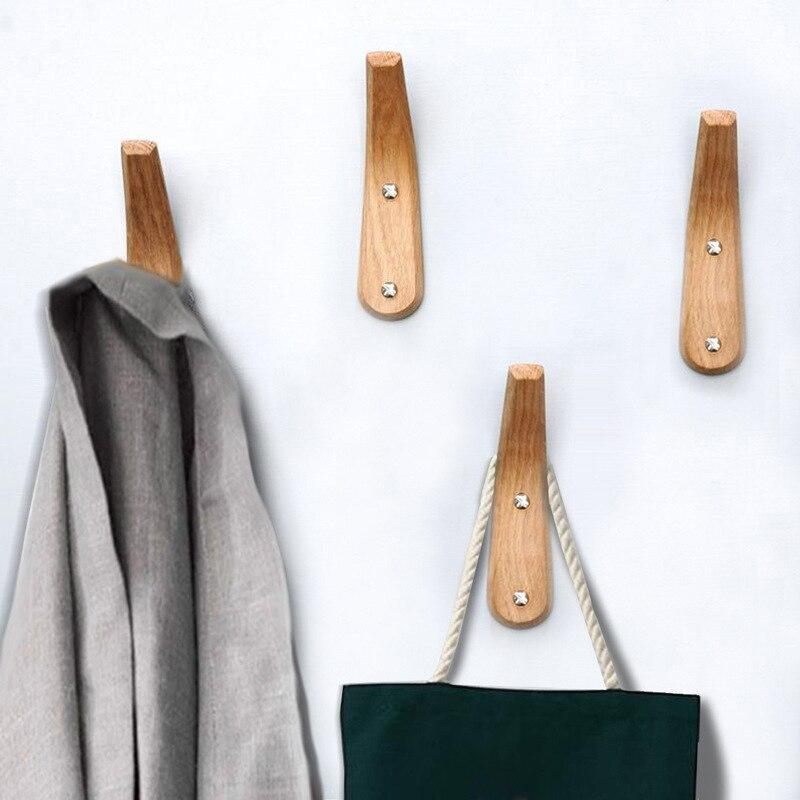 خطافات خشبية صلبة بسيطة قطعة/المجموعة 4 قطع/مجموعة ، خطافات للمعاطف ، حقيبة ، قبعة ، ملابس ، وشاح ، ممر ، حامل مفاتيح ، معلق على الحائط