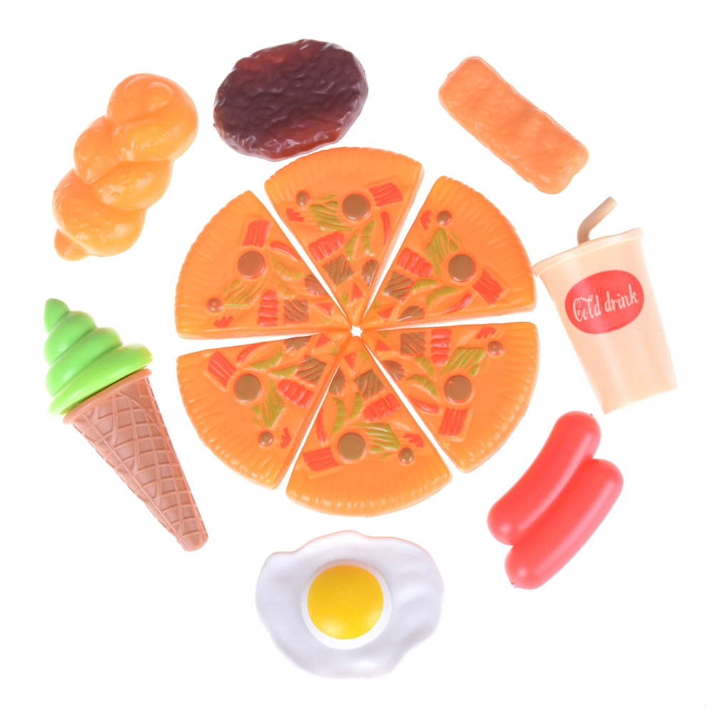 1set Engraçado Plastic Kid Crianças Cola Pizza Ice Cream Food Kitchen Finja Role Play Brinquedos Presente de Aniversário Para Crianças