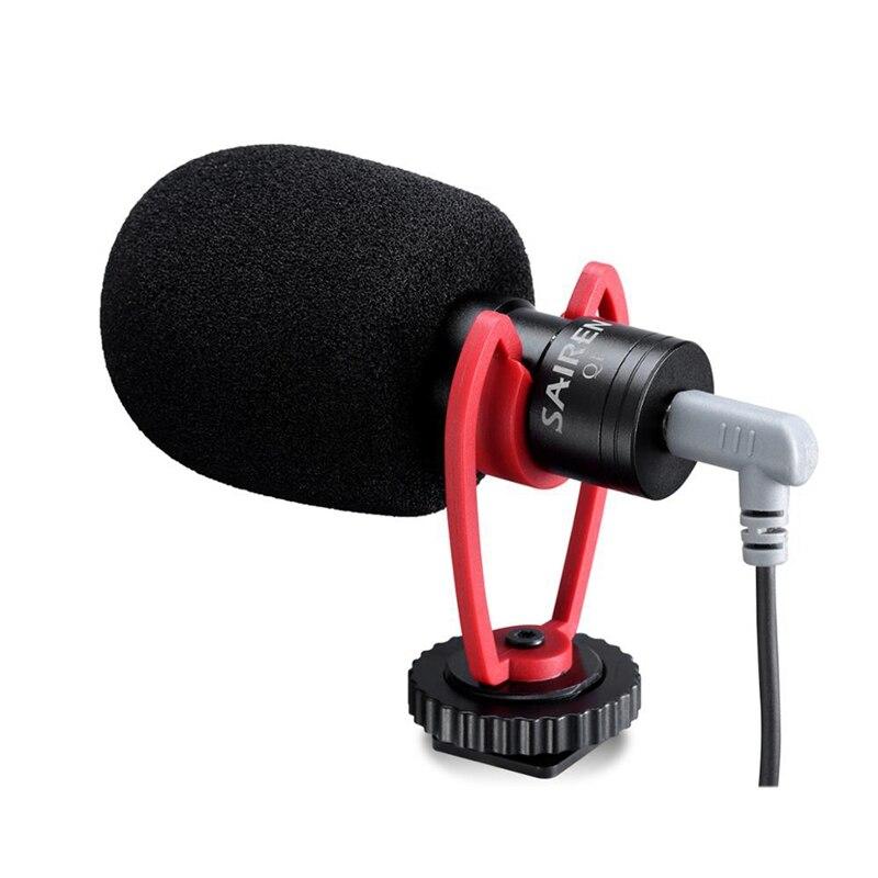 Hot TTKK VM-Q1 11 Vlog Vídeo microfone com o Choque de Montagem para iPhone Samsung Smart Phone Sony Nikon Canon DSLR Camera
