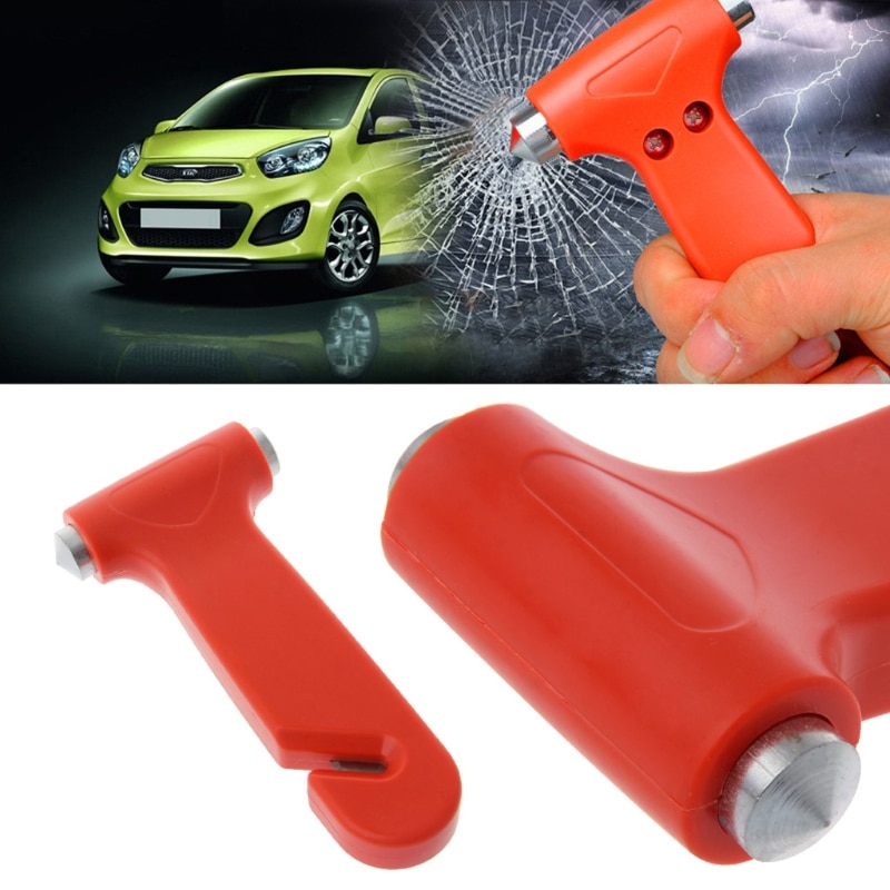 multifunctional axe hammer portable tool car lifesaving hammer broken window hammer camping equipment outdoor activities 2 In 1 Car Emergency Safety Escape Hammer Glass Window Breaker Belt Cutter Tool Glass Lifesaving Hammer