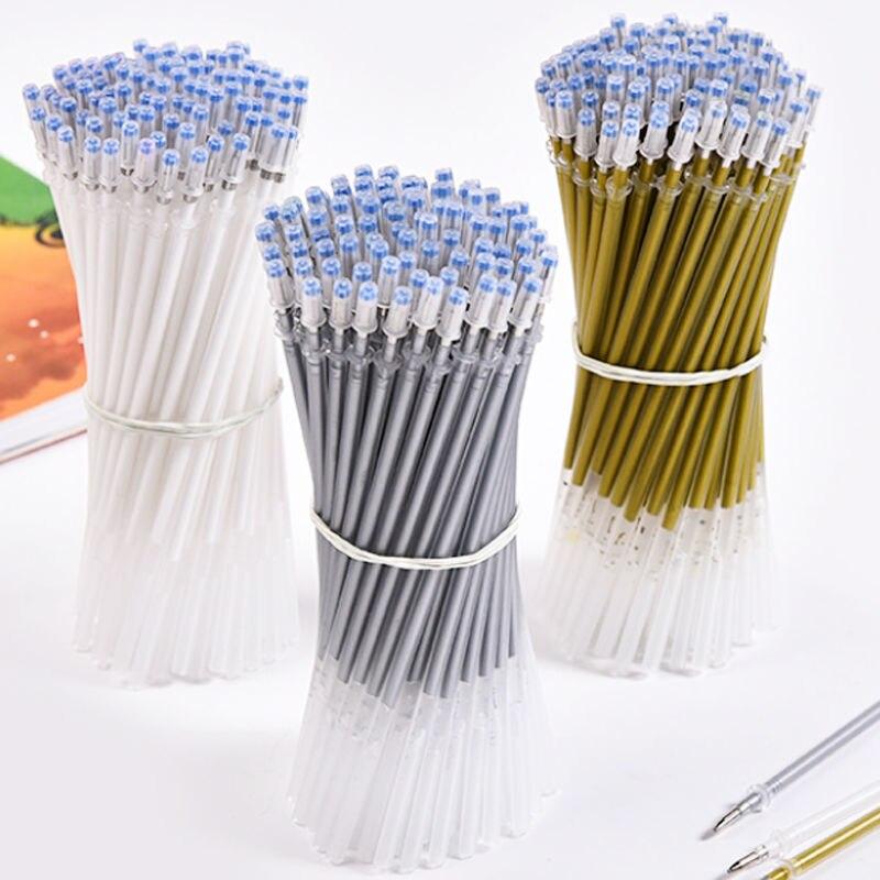 50 Набор сменных стержней шариковая ручка с высоким блеском, 0,7 мм, белая ручка для рисования, многофункциональная ручка для рисования, школь...