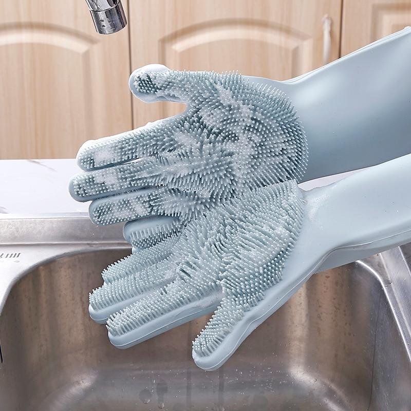 Силиконовые перчатки для мойки автомобиля, щетка для мойки автомобиля, бытовые перчатки, перчатки для уборки, волшебные бытовые перчатки, п...