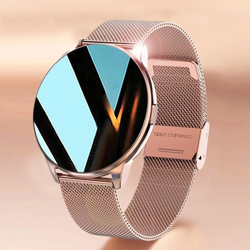 2021 New Fashion Ladies Smart Watch Full Screen Touch IP68 Waterproof Heart Rate Monitoring Women's