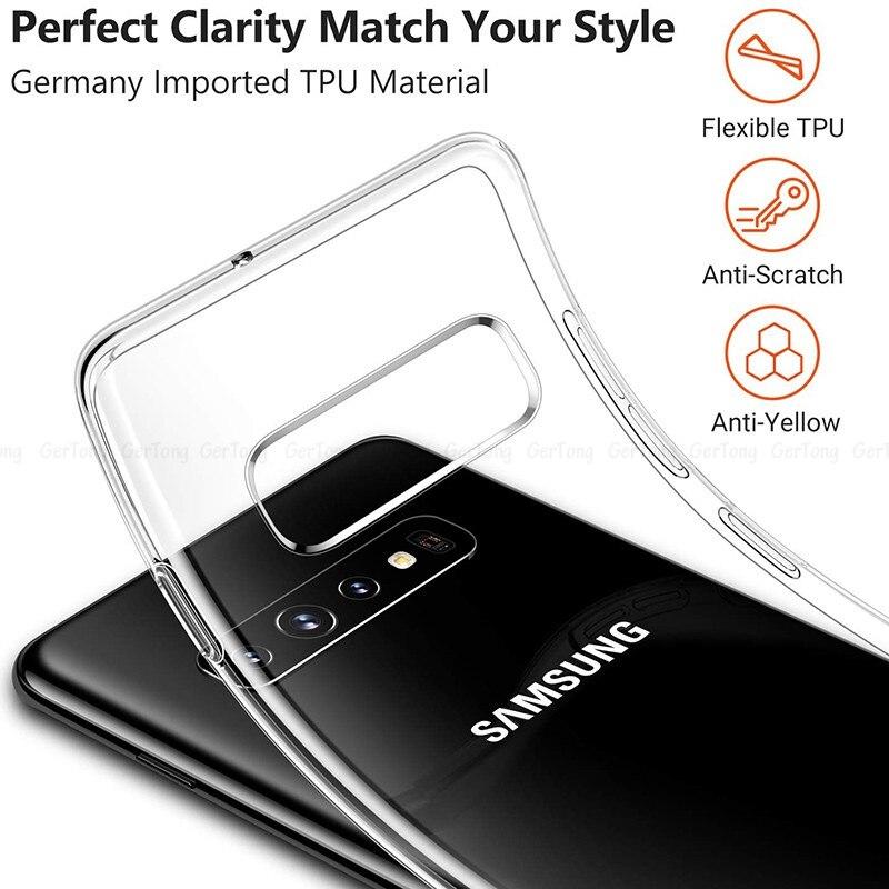 Прозрачный чехол для Samsung Galaxy S10 Plus HD, прозрачные мягкие чехлы из ТПУ для Samsung Galaxy S10e S10 e S 10 + S 10e, чехол