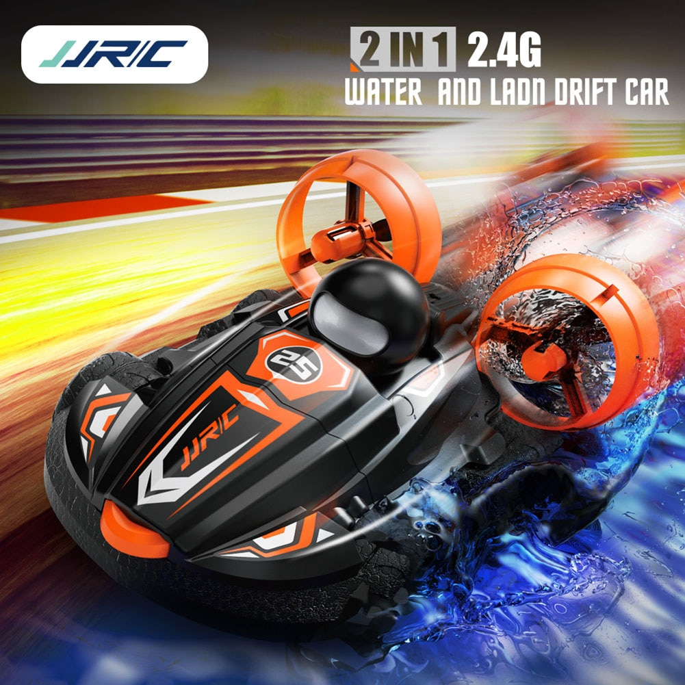 JJRC Q86 2.4G 2 IN 1 Amphibious Drift Car Remote Control Hovercraft Speed Boat RC Stunt Car for Kid