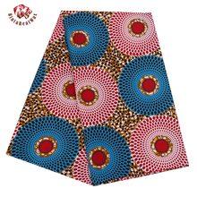 Ankara africain Polyester cire imprime tissu Binta vraie cire de haute qualité 6 yard tissu africain pour robe de soirée PL536