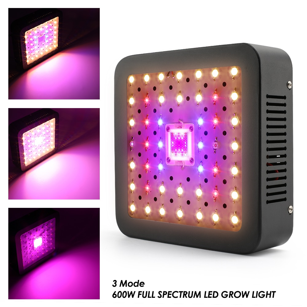 LED Grow Light For Indoor Plants Full Spectrum 600W Double Chip Led Plant Phytolamp Greenhouse Seeds Growing Lamp 85-265V enlarge