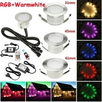 20 pieces 314561mm rgbww changeable smart wifi app music controller terrace kitchen stair step led deck rail soffit lights 12v