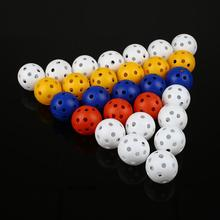 50Pcs  40mm Golf Training Balls Plastic Airflow Hollow with Hole Golf Balls Outdoor Golf Practice Balls Golf Accessories