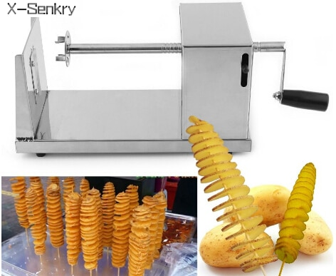 Hotsale Tornado Potato Cutter Machine Spiral Cutting Chips Kitchen Accessories Cooking Tools Chopper Chip