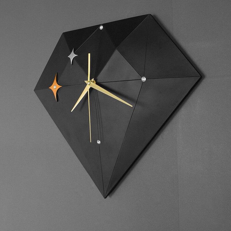 Reloj De Pared geométrico nórdico silencioso, decoración creativa del hogar, Relojes De...