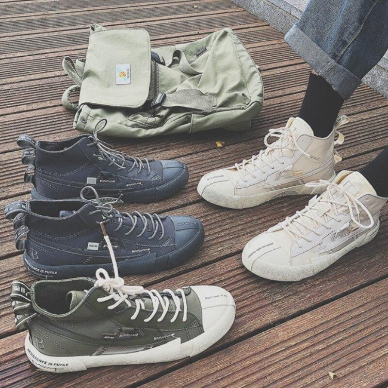 Zapatos de primavera para hombres versión coreana de la tendencia de los zapatos de alta calidad zapatos blancos salvajes de los hombres de moda tendencia street shooting J1-60