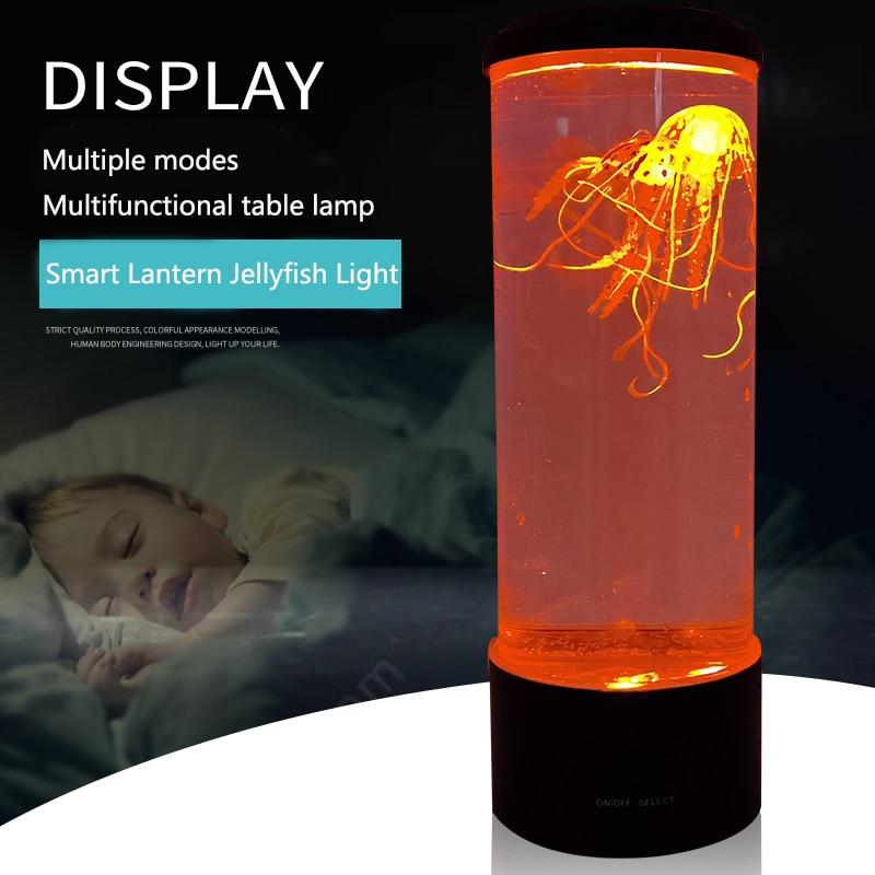 Bedroom LED Desktop Light Jellyfish Tropical Fish Aquarium Tank LED Light Relaxing Bedside Mood Atmosphere Night Light Lamp enlarge