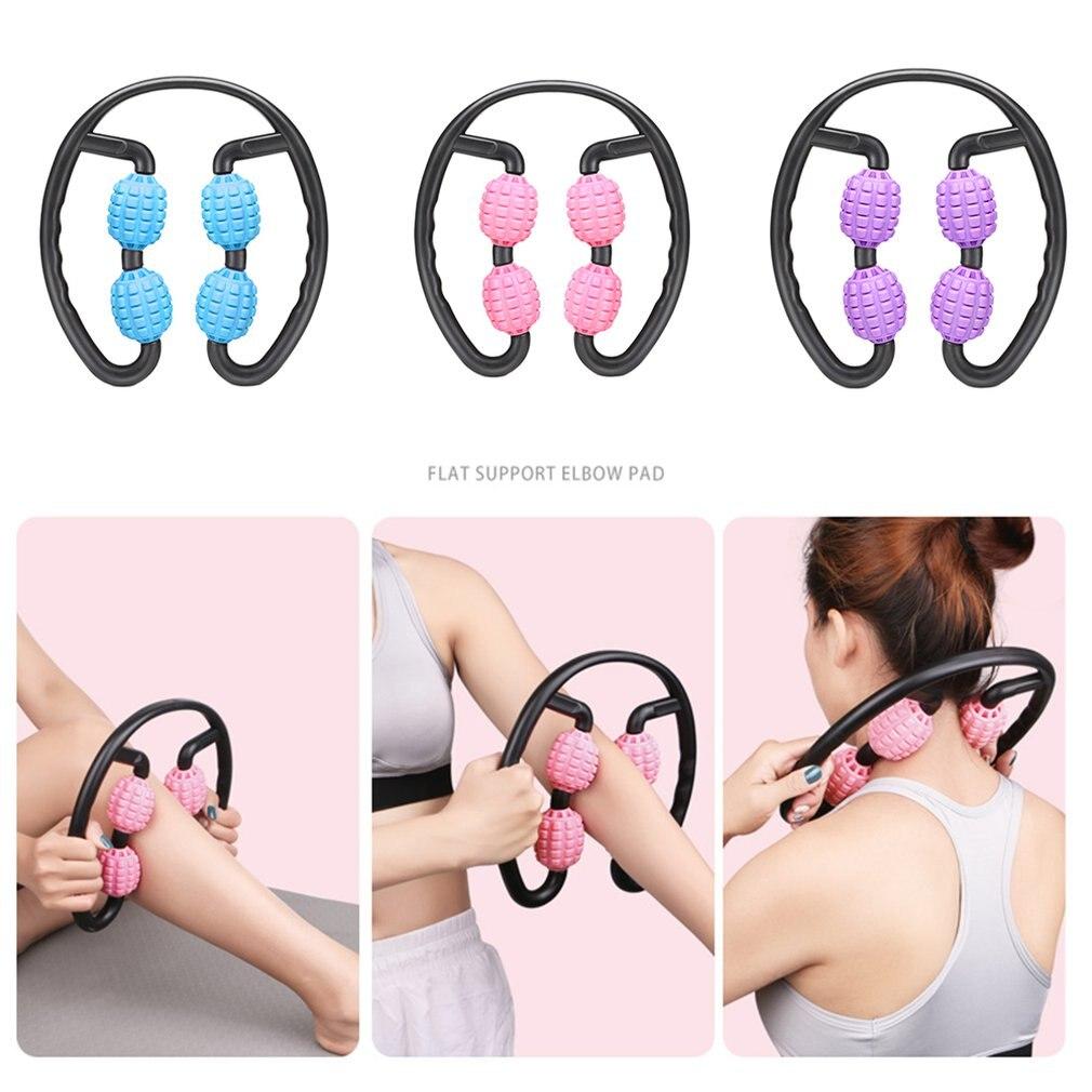 U em forma de gatilho ponto massagem rolo para braço perna pescoço tecido muscular para fitness ginásio yoga pilates esportes 4 roda yoga coluna