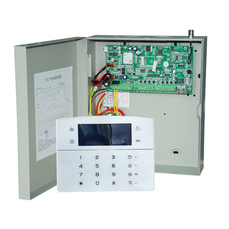 Focus FC7640 Industrial Network Security System 8 Wired &32 Wireless Zones GSM TCP/IP Metal Box Intruder Detector Alarms enlarge