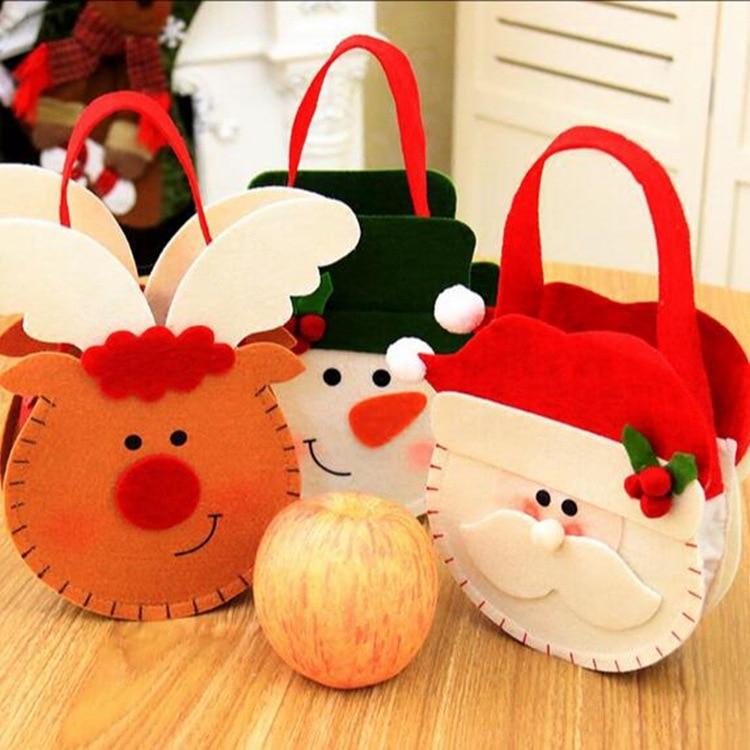 1 шт. рождественские подарочные пакеты Санта-Клауса, снеговика, оленя, конфет, пакеты для хранения, рождественские, новогодние, вечерние укра...