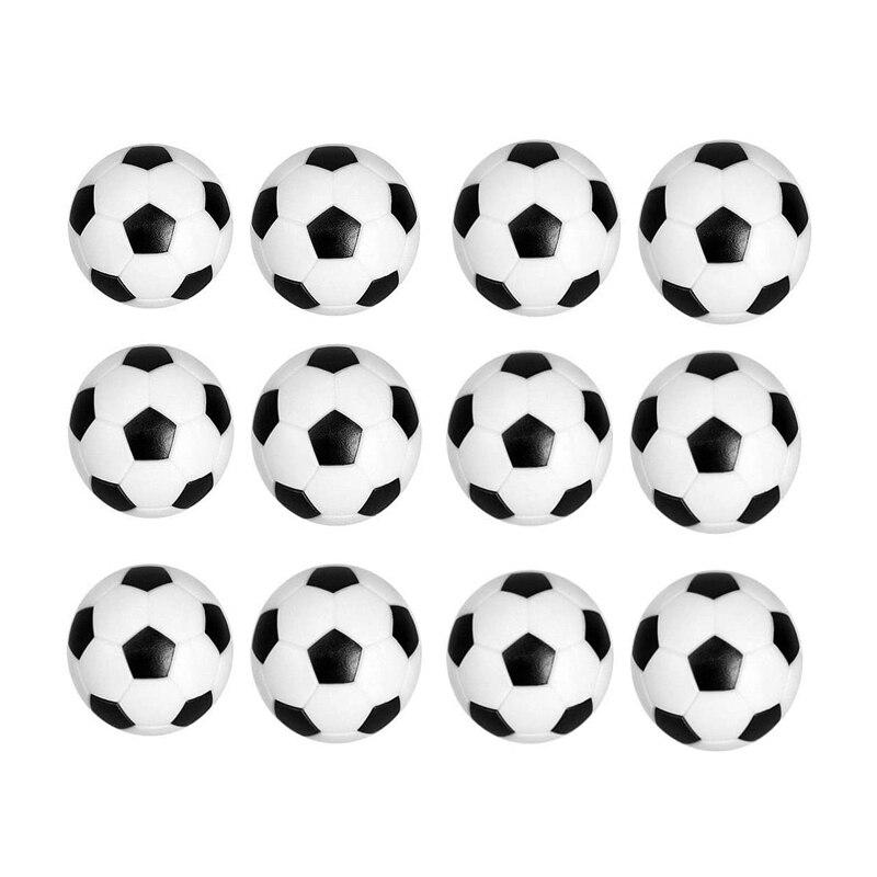 Sews-substituição de futebol de mesa 12 pacote mini preto e branco 36mm bolas de futebol de mesa bolas de jogos