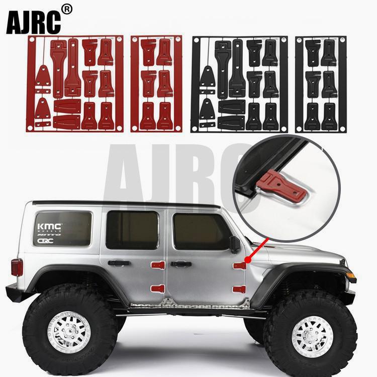 Осевые петли AXI03007 SCX10 III, металлические петли JEEP Wrangler, красные/черные/Серебристые петли для крышки задней двери