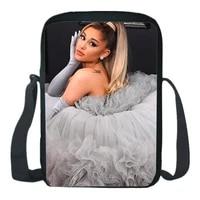 ariana grande shoulder bags star singer print cartoon crossbody bag teens backpack boys girls messenger knapsack