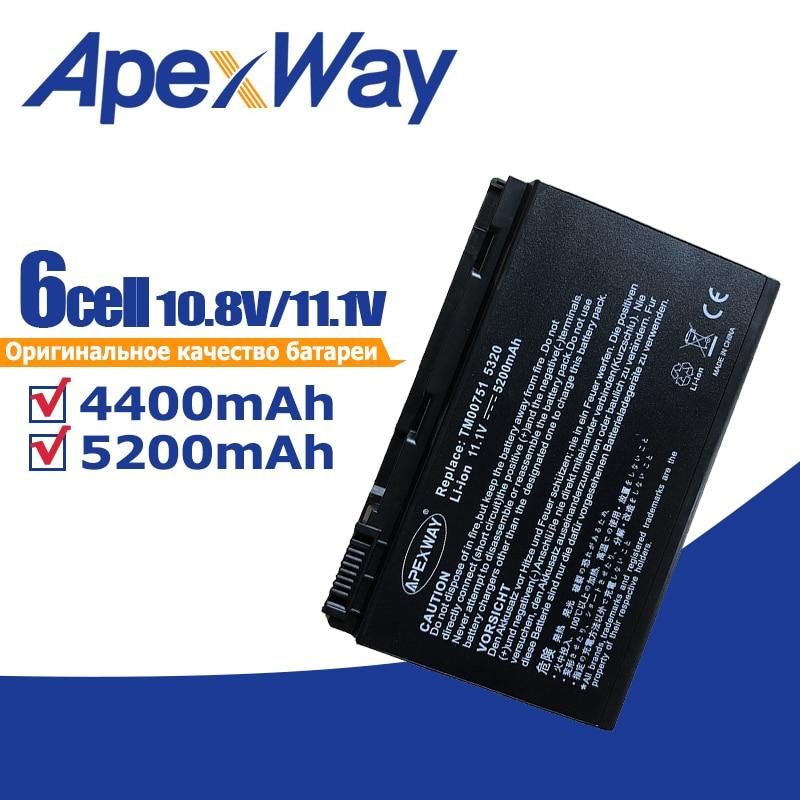 Batería del ordenador portátil para Acer Extensa 5220, 5235, 5620, 5630, 7620 para TravelMate 5320, 5520, 5720, 5730, 7720, 7520 TM00741 TM00751 GRAPE32