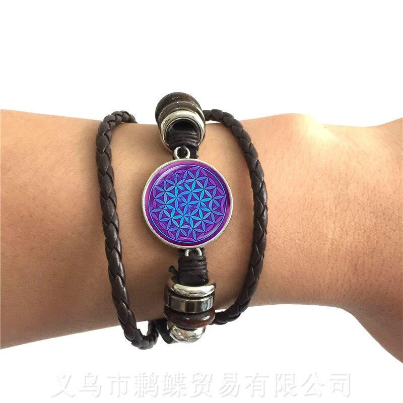 Новый-кожаный-браслет-om-для-йоги-Классическая-Мандала-чакр-стеклянные-драгоценности-Священный-геометрический-синий-цветок-подарок-для-д