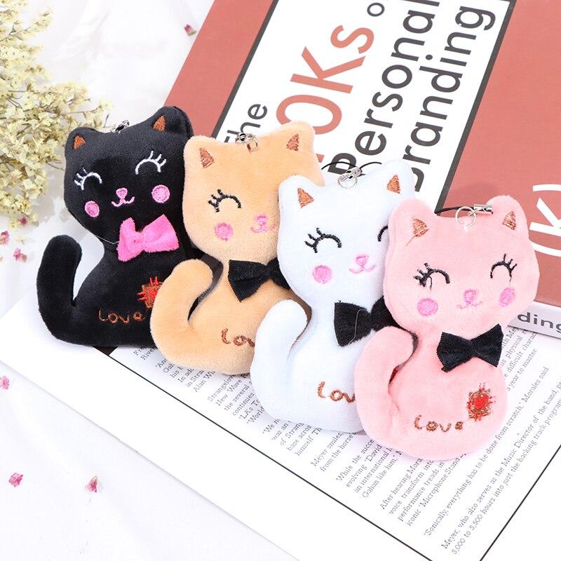 1pc Cute 10CM Cat Plush Stuffed Toy Doll New Key Chain Gift Plush Dolls for Kids TV & Movie Characte