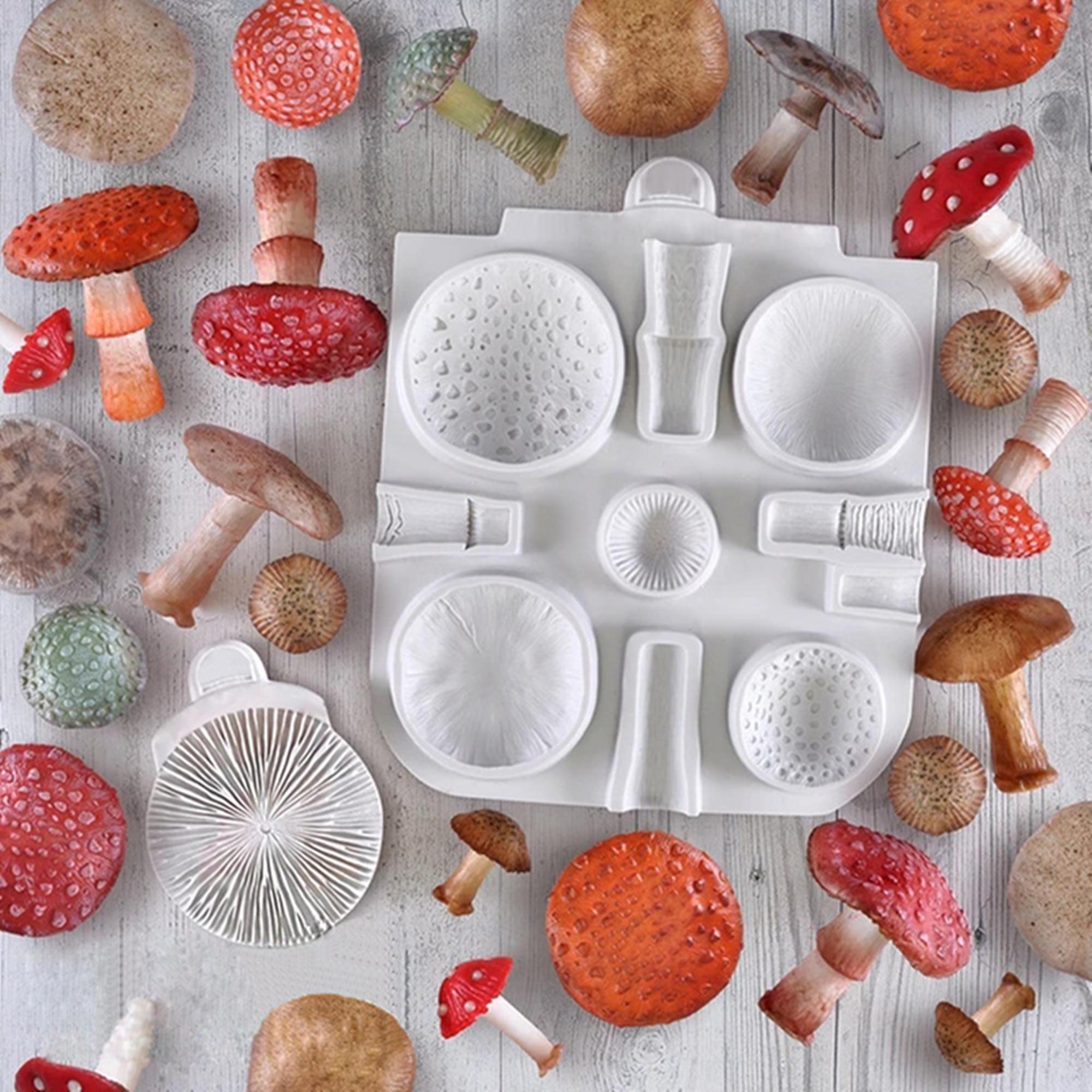 Силиконовые формы для помадки в виде больших грибов, инструменты для украшения свадебного торта, формы для выпечки шоколадной смолы