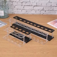 510 hole oval brush holder rack wite black water based stamping ink card stencil background make 2021 new