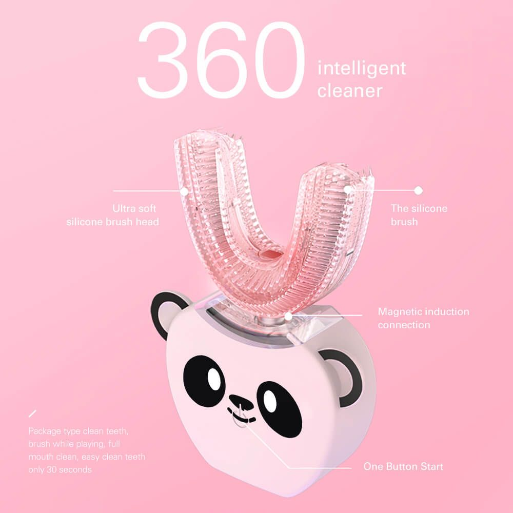 Smart U 360 Degrees Kids Sonic Electric Toothbrush Music Silicon Automatic Ultrasonic Teeth Tooth Brush Cartoon Pattern Children enlarge