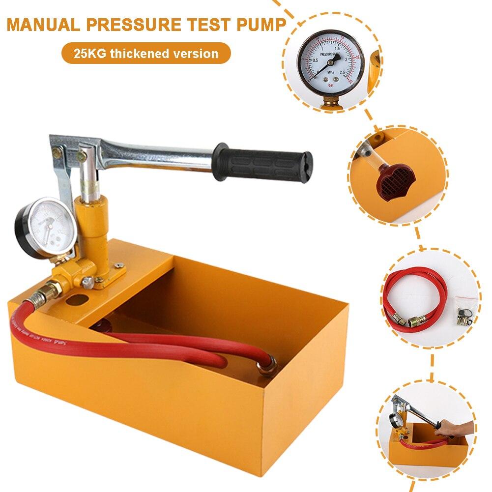 1 Set الأصفر الألومنيوم اختبار الضغط تسرب دليل اليد الصحافة الهيدروليكية 2.5Mpa اختبار الضغط المياه مع مضخ خرطوم آلة
