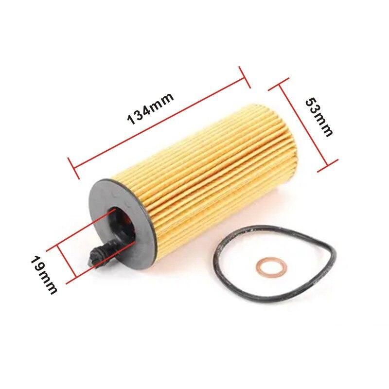 Filtro de aceite de motor para motor bm N57 3.0L 11428507683 kit de filtro de aceite para BMW f02 f10 f15 10 Uds al por mayor
