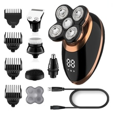 wet dry electric shaver for men beard hair trimmer electric razor rechargeable bald shaving machine